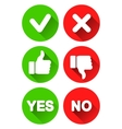 Yes and No Icons vector image