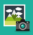 camera photo gallery album vacation vector image