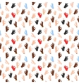 Seamless pattern with ok hand gestures vector image