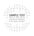 Wireframe mesh with text vector image