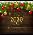 2020 happy new year and merry christmas vector image vector image