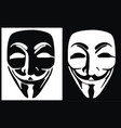 anonymous mask logo hacker icon design imag vector image vector image
