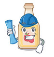 architect apple cider isolated with mascot vector image vector image