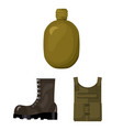 Army and armament cartoon icons in set collection vector image