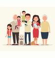 big family together parents and children vector image
