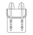 boy backpack icon outline style vector image