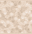 brown line seamless pattern of seashells vector image vector image