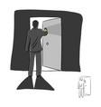 businessman open the door with lighting inside vector image