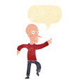 cartoon angry old man with speech bubble vector image vector image