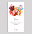 circus amusement park entertaining klowns web vector image vector image