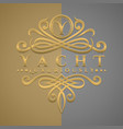 classic luxurious letter y logo with embossed vector image vector image