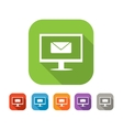 Color set of flat mail icon vector image