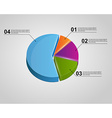 colorful 3d infographic chart pie diagram vector image