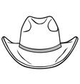 cowboy hat vector image vector image