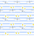 cute rabbit seamless pattern for baby vector image