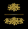 daisy gold bouquetes vector image