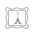 eiffel tower stamp vector image vector image