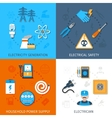 Electricity Flat Set vector image vector image