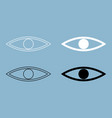 eye the black and white color icon vector image vector image
