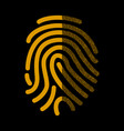fingerprint signature in binary code vector image vector image