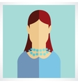 flat women icons vector image