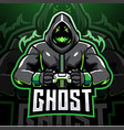 ghost gaming esport mascot logo design vector image vector image