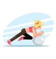 girl fitball fitness women health exercise female vector image