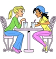 Girlfriends Having a Drink vector image vector image