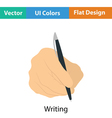Hand with pen icon vector image vector image