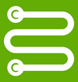 heated towel rail icon green vector image vector image