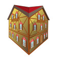 isolated medival house vector image vector image