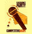 karaoke typographic vintage grunge poster vector image vector image