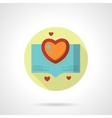 Love stories icon flat round style vector image vector image