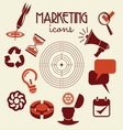 marketing icons resize vector image vector image