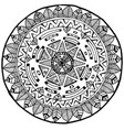 maya round mandala doodle for yoga and meditation vector image