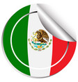 mexico flag in sticker design vector image vector image