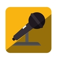 microphone sound device icon vector image vector image