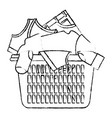 monochrome blurred silhouette of laundry basket vector image vector image