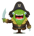 monster pirate vector image vector image