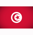 national flag tunisia vector image vector image