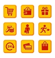 Orange Shopping Icons Set vector image vector image