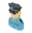 policeman asian icon isometric 3d style vector image vector image