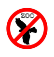 Raptor in zoo prohibited vector image vector image