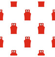 red sleeveless shirt pattern seamless vector image vector image