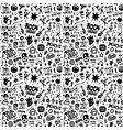 rock music party - seamless pattern graphic vector image