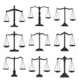 scales justice law and notary lawyer legal icons vector image