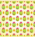 seamless pattern of easter eggs with pink tip and vector image