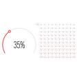 set circular sector percentage diagrams from 0 vector image vector image