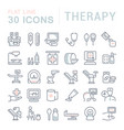 set line icons therapy vector image