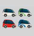set of electric car vector image